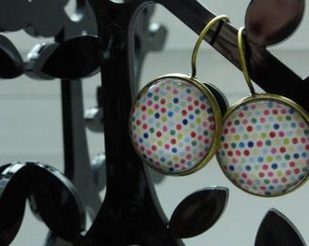 Earrings polka dots