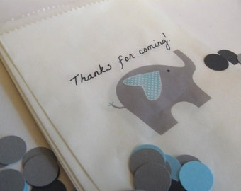 Elephant Gift Bags - Birthday Party, Baby Shower, First Birthday, Favor Bags, Party Decorations