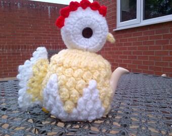 Hand Crocheted Unique Chicken Tea Cosy.