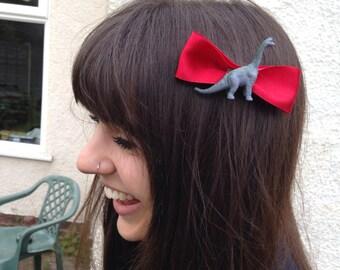 Dinosaur Bow Hair Clip Accessory