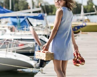 Soft Linen Dress / Handmade Dress / Minimal Linen Tunica / Baltic Linen / Elegant Summer Dress / Women's Linen