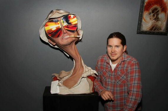 """One of a Kind Silicone """"Fear and Loathing in Las Vegas"""" Tribute Sculpture"""