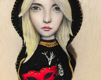 Bekah Doll / Hand Painted & Sewn