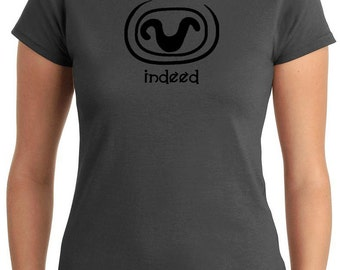 Stargate SG1 inspired 'Indeed' Teal'c t-shirt Lady/Women's fit - Charcoal
