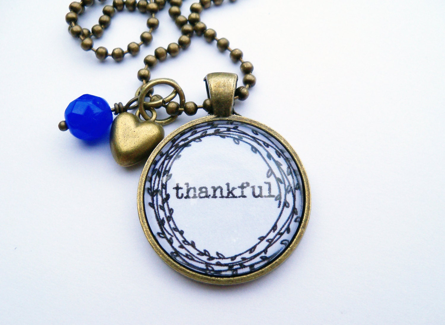 one word bracelet thankful necklace one word jewelry inspirational pendant 6774
