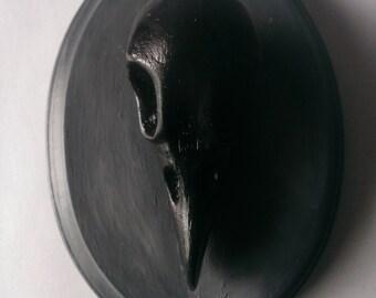 Raven Skull sculpture