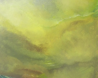 "Green Mountain Lake - 40"" x 28"""