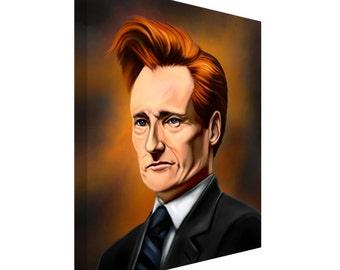 FREE SHIPPING: Conan O'Brien Show Portrait Canvas Art Painting