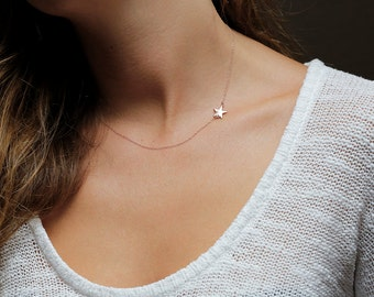 Star Necklace, Star Necklace Silver, Star Necklace Gold, Personalized Necklace, Gold Star Necklace, Silver Star Necklace, Initial Necklace