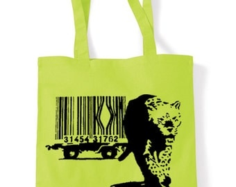 Banksy Leopard Shopping Bag