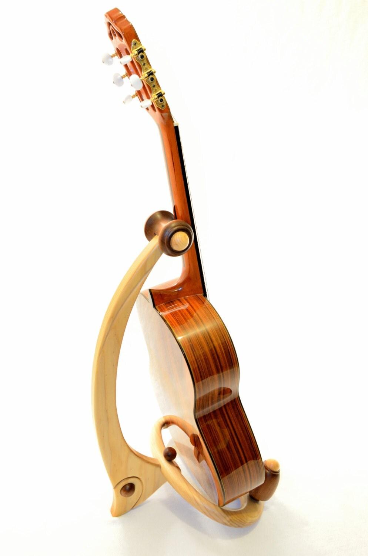 acoustic guitar stand floor standing instrument holder. Black Bedroom Furniture Sets. Home Design Ideas