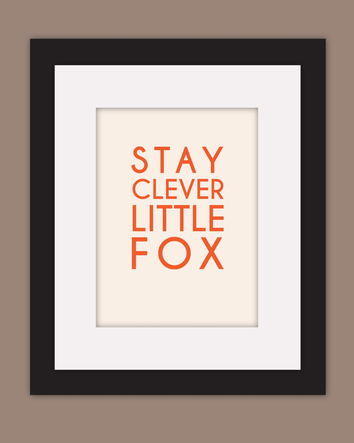 Clever Fox: Stay Clever Little Fox Print 8x10 Fox Art Print By