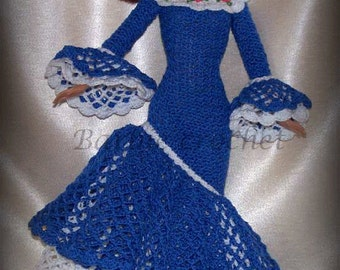 Blue dress with ruffles