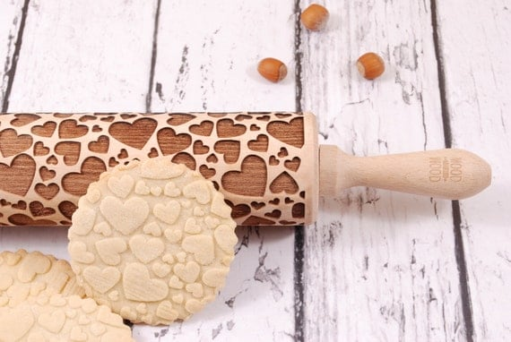 Cute embossed rolling pin