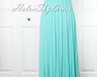 Long Infinity Wrap Convertible Bridesmaid Dresses Turquoise green dress For Any Occasion