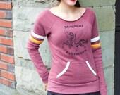 Zebracorn Sweatshirt Women, Unicorn Sweatshirt, Zebra Sweatshirt, Organic Cotton, Yoga Pullover, Lounge top, off shoulder top, Sweater