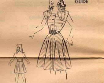 Superior 6508 Sears, Roebuck TEEN GIRL Size 14 Bust 32 DRESS 1940s