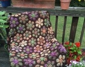 Modern Blanket of Flowers - Colorful Easy Crochet Pattern -  a Julie Yeager Design