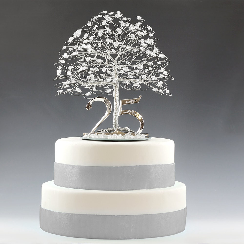 25th anniversary cake topper gift decoration birthday idea for 25th wedding anniversary decoration