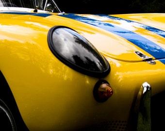 Yellow Car Art Photograph Wall Decor Automotive Wall Art - Yellow Berkeley Fine Art Photograph