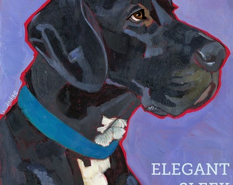 Great Dane No. 5 - magnets, coasters and art prints