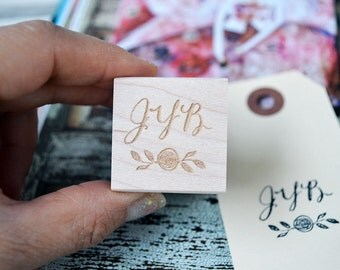 Monogram Rubber Stamp  - Customized Stamp - Personalized Stamp - Wedding - Save the Date