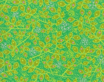 Leaves Green Bloom Crazy RJR Fabric 1 yard