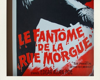 Vintage Collectible Film Poster - Phantom of the Rue Morgue (1954)
