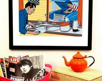 Life is Swell Art Print - Feminism Poster - Feminist Poster - Gender Roles - Mid Century Poster - Feminist Art Print