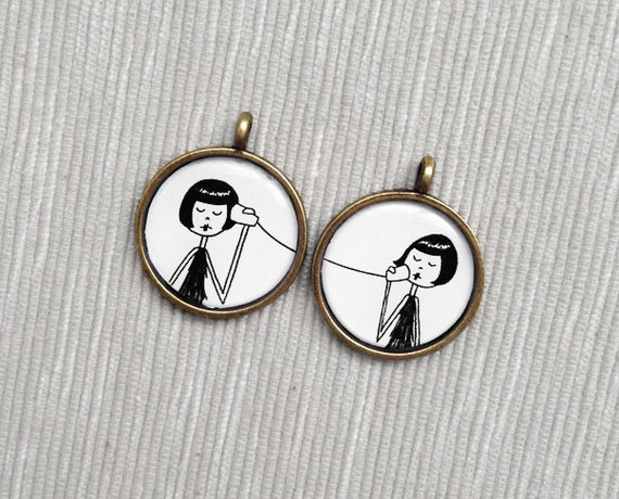BFF Best Friend friendship pendant set