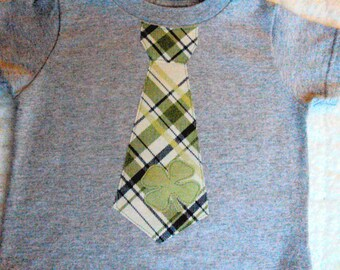 Boys St. Patricks Day Tie ShirtBoys- St. Patrick's Day Shirt-Toddler St. Patrick Day Shirt-Tartan Plaid St. Patrick Day shirt-Shamrock Shirt