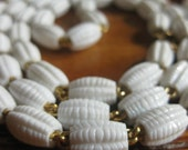 Vintage White Monet Necklace / 1980s white necklace / white summer necklace