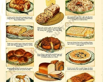 antique victorian illustration bread for every meal advertisement DIGITAL DOWNLOAD