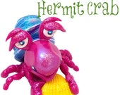 Polymer Clay Hermit CRAB Tutorial - Also for Fondant, Sugar Paste, & More