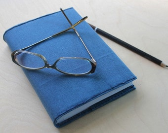 Journal refillable waxed canvas (MEDIUM) - graph, lined or blank paper