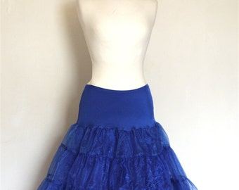 Royal Blue Tulle Petticoat - Full Fifties Style - Underskirt - Prom - Full Petticoat - Bridesmaid