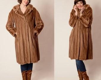Vintage 1960s Mink Fur Coat - Autumn Haze - Winter Fashions
