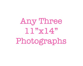 Set Of 3 Photos, 11x14 Set Of 3 Prints, Discounted Set, Affordable Wall