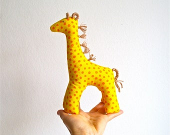 Giraffe, organic, yellow, soft, toy, baby, toddler, shower gift