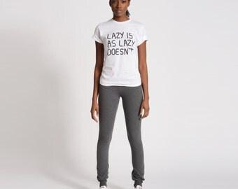 Grey Skinny Sweats- Skinny Sweatpants Gray