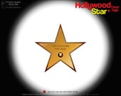 Hollywood Star Favor Tag : DIY Printable PDF | Movie Star | Walk of Fame | Movie Premiere Gift Tag | Red Carpet Thank You - Instant Download