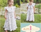 Sweet Jane Ruffle Dress - Girl PDF Sewing Pattern - Instant Download