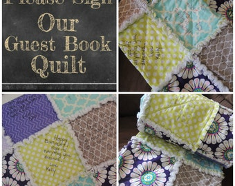 Quilt Kit, Guest Book, Speical Event, Signature, Forever Memory, Heirloom FAST Shipping