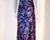 Vintage Satin PRAIRIE DOLL Maxi Dress m l
