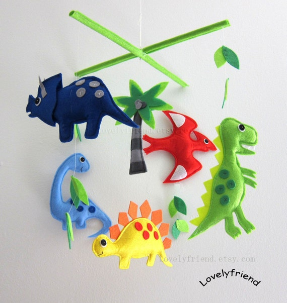 Items Similar To Baby Mobile Dinosaur Crib Mobile