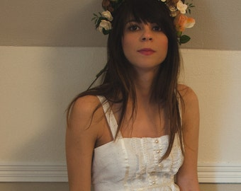 vintage boho wedding dress, medium-large (size 11-12)