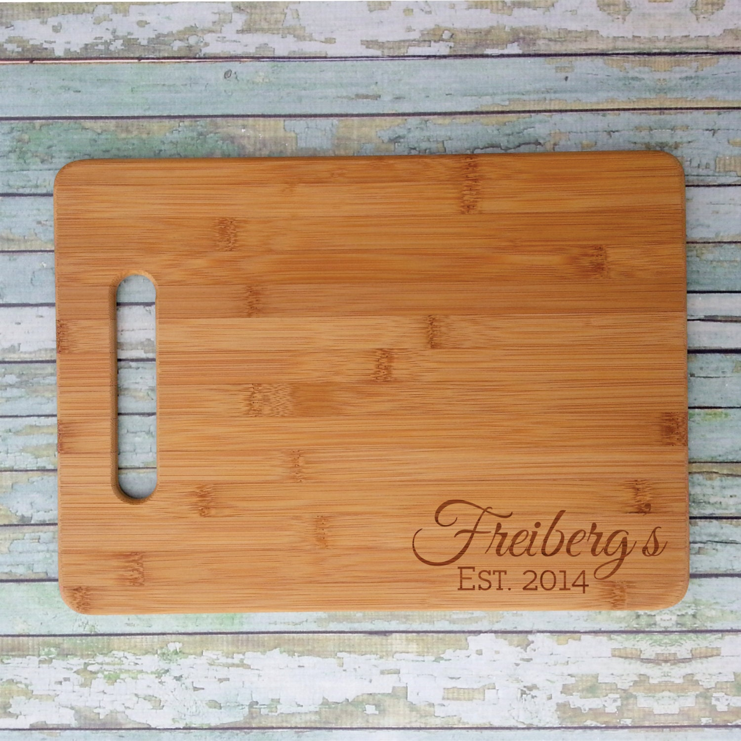 Personalized Bamboo Cutting Board Custom Engraved
