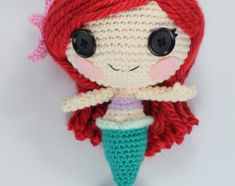 PATTERN: Mermaid Crochet Amigurumi Doll