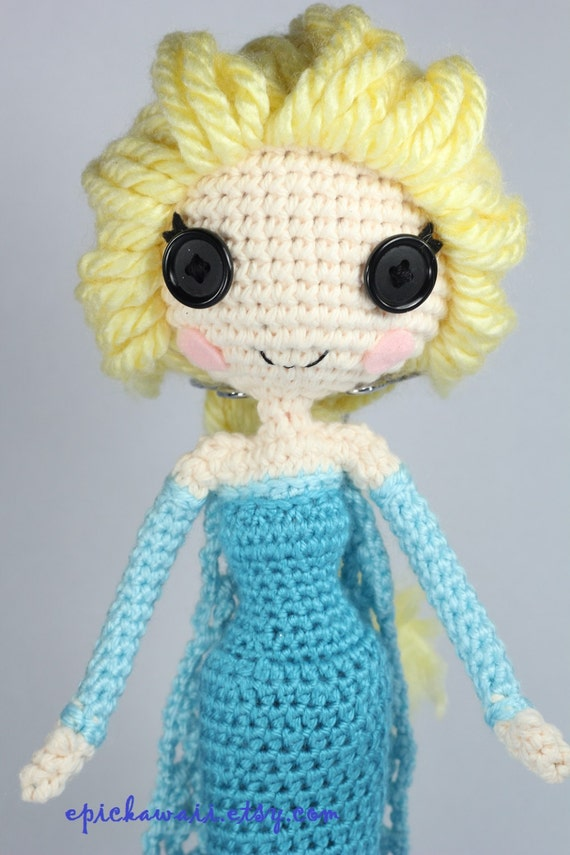 Amigurumi Queens : PATTERN: Elsa Crochet Amigurumi Doll