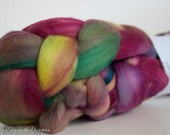 SUPER SOFT Malabrigo Nube Hand Dyed 100% merino wool top - 866 Arco Iris -Luxury fiber for HandSpinning Needlefelting Felting Thrumbed Mitts